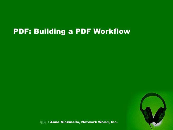 PDF: Building a PDF Workflow