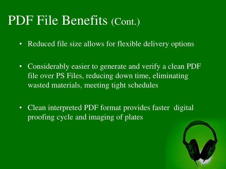 PDF File Benefits