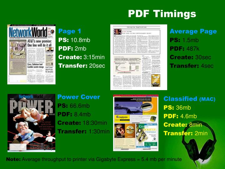 PDF Timings