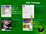 pdf timings