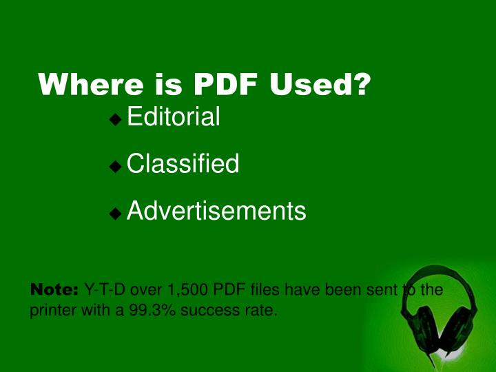 Where is PDF Used?