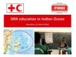 drr education in indian ocean mauritius 22 march 2013