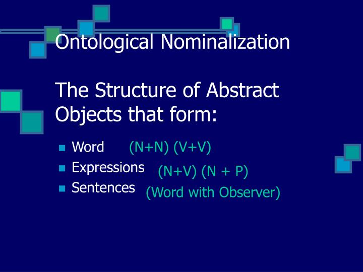 Ontological Nominalization