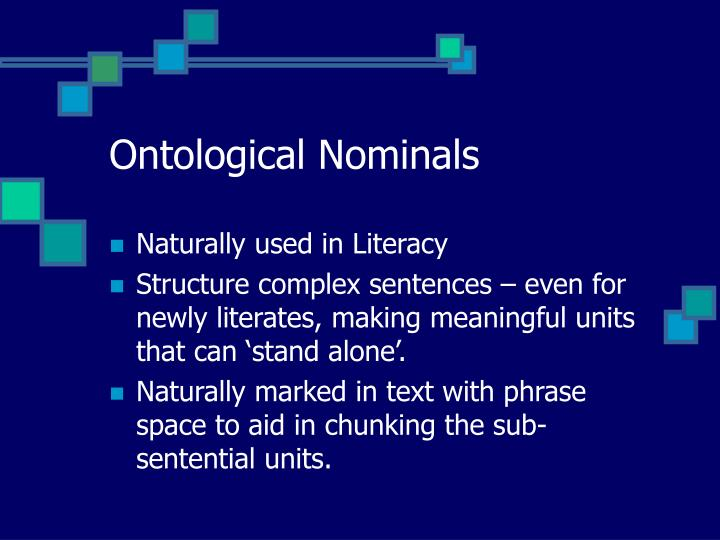 Ontological Nominals