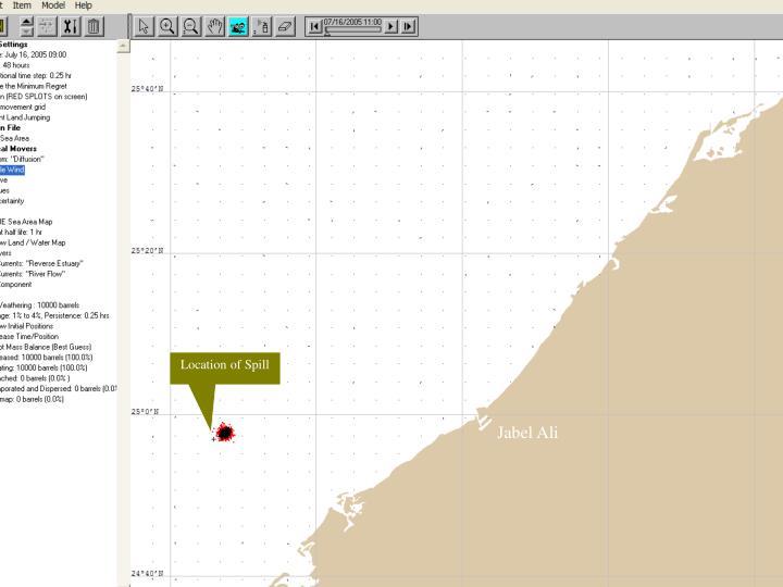 Location of Spill