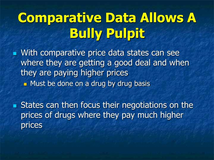 Comparative Data Allows A Bully Pulpit