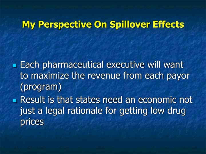 My Perspective On Spillover Effects