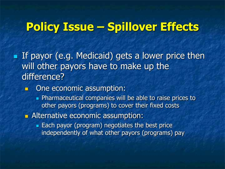Policy Issue – Spillover Effects
