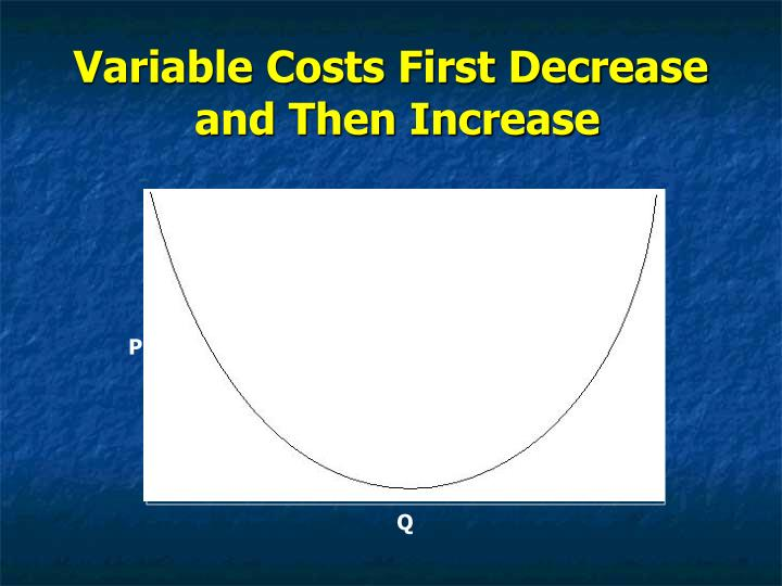 Variable Costs First Decrease