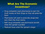 what are the economic incentives