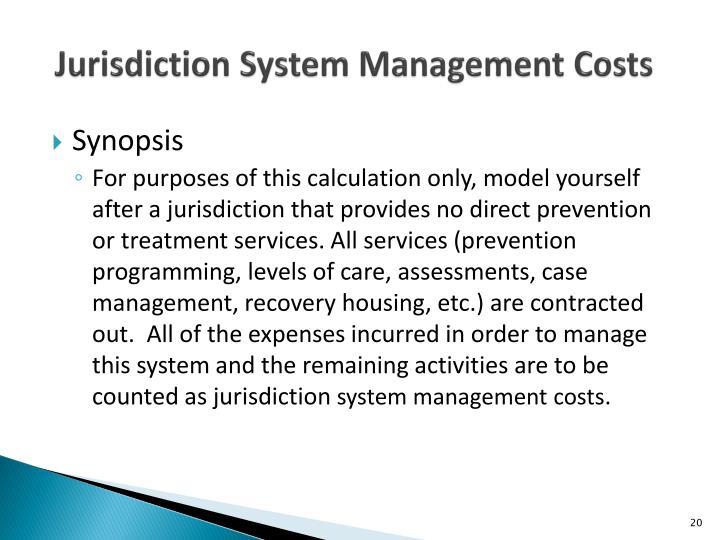 Jurisdiction System Management Costs