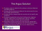 the argus solution