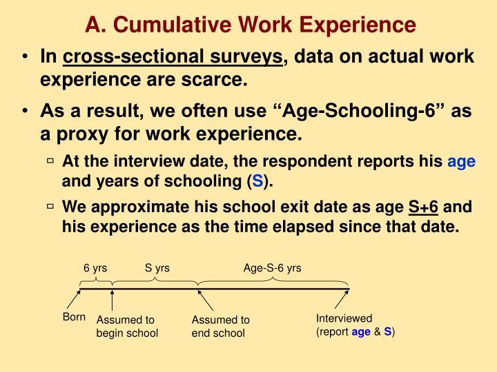 A. Cumulative Work Experience