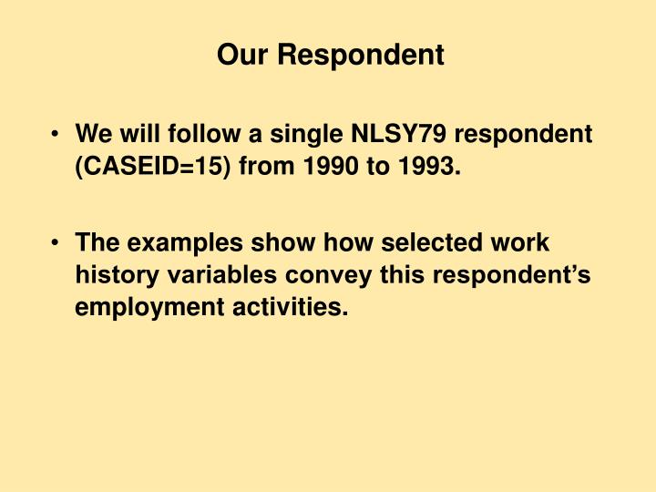 Our Respondent