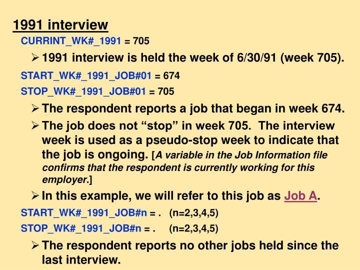 1991 interview