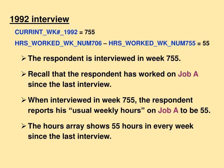 1992 interview