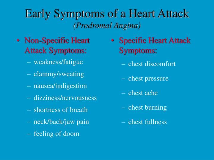 Non-Specific Heart Attack Symptoms: