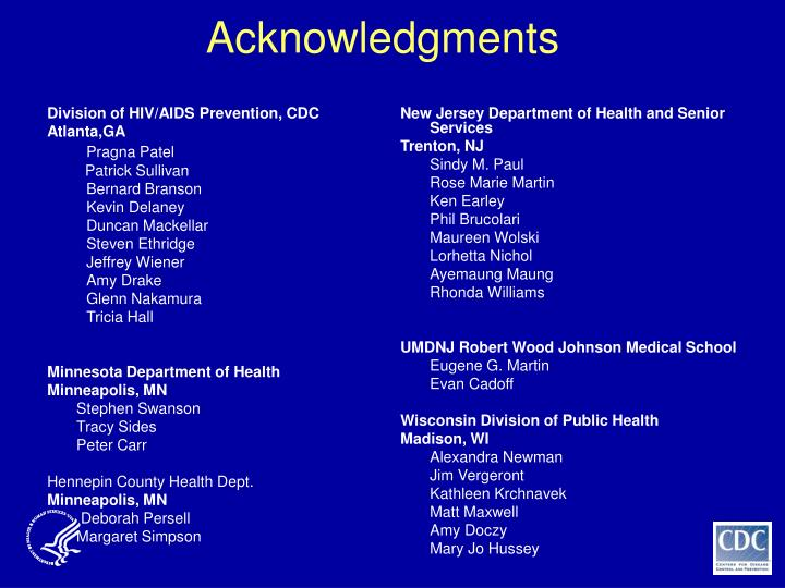 Division of HIV/AIDS Prevention, CDC