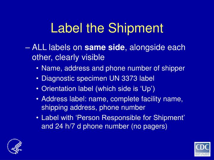 Label the Shipment