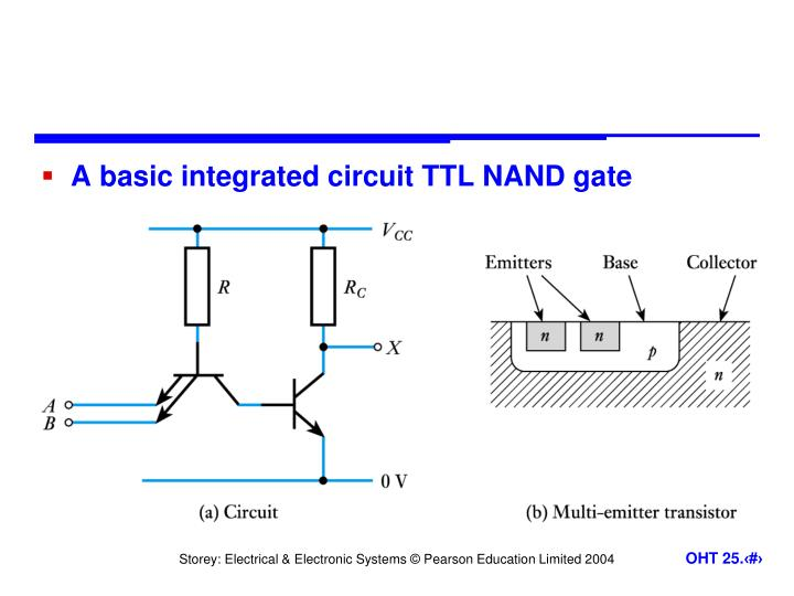 A basic integrated circuit TTL NAND gate