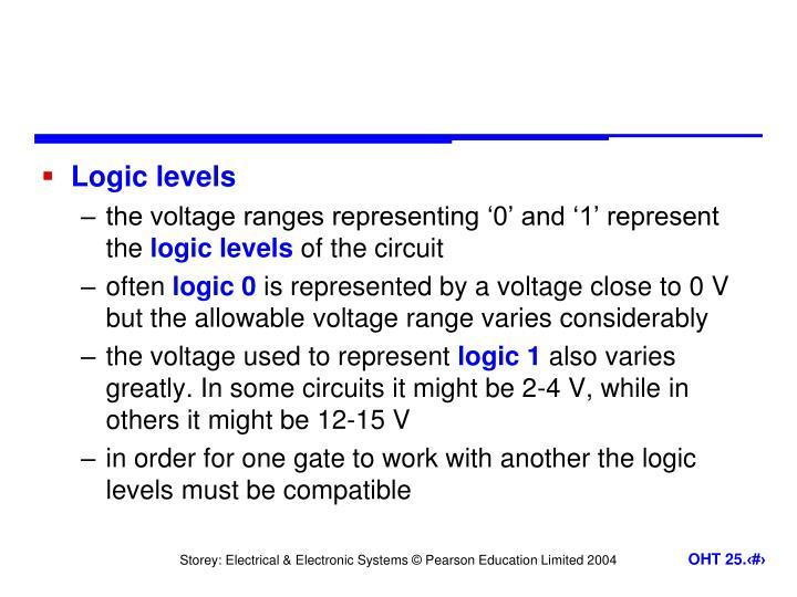 Logic levels