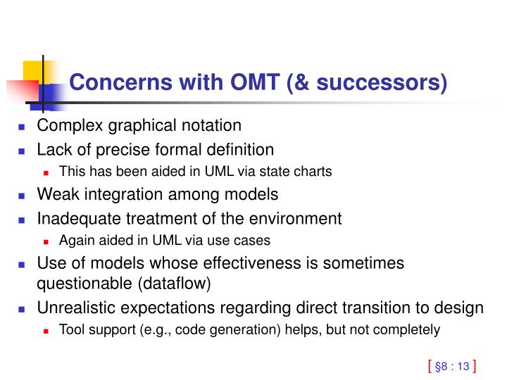 Concerns with OMT (& successors)