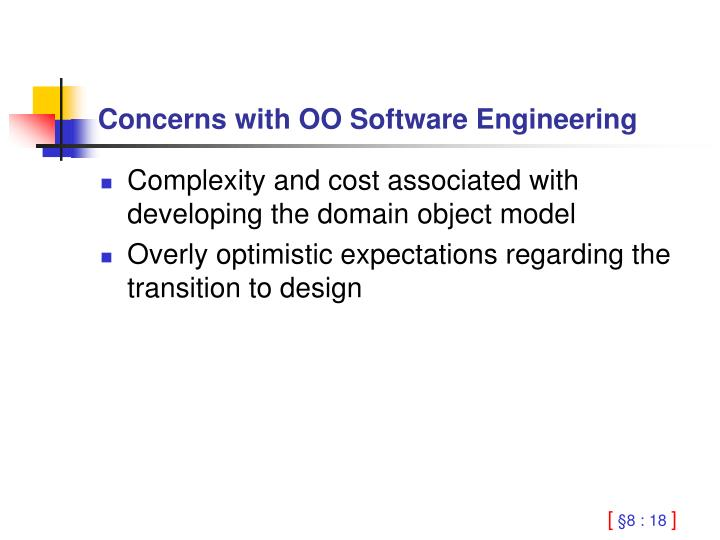 Concerns with OO Software Engineering