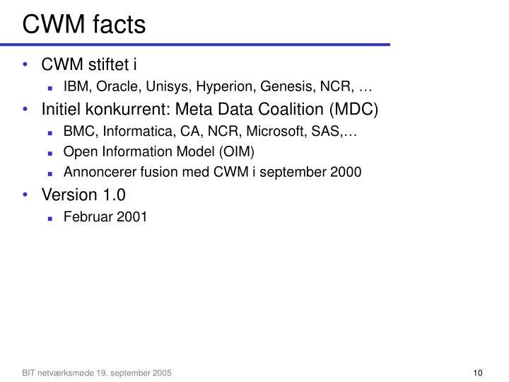 CWM facts