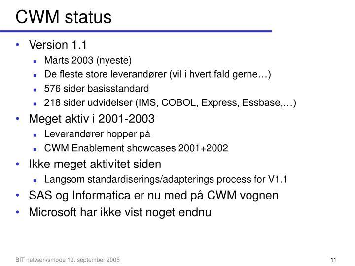 CWM status