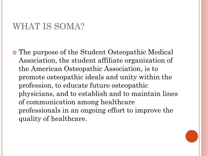 What is soma