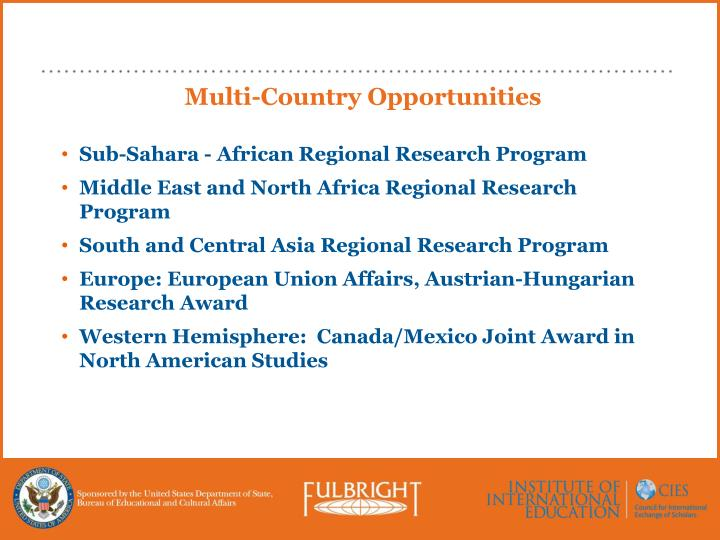 Multi-Country Opportunities