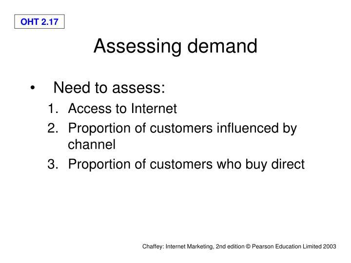 Assessing demand
