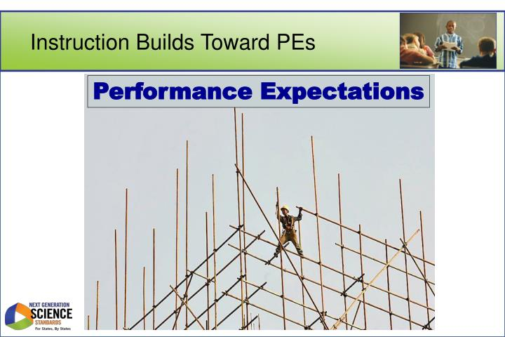 Instruction Builds Toward PEs