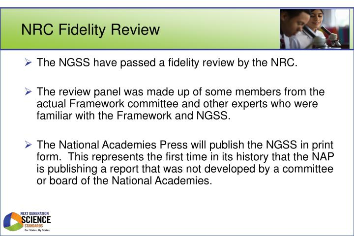 Nrc fidelity review