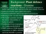 background plant defence reactions gramine