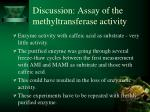 discussion assay of the methyltransferase activity1