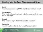 delving into the four dimensions of scale