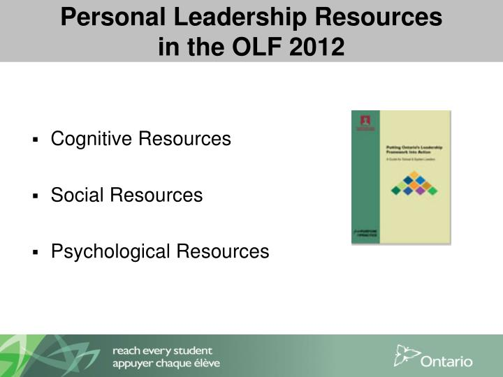 Personal Leadership Resources