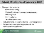 school effectiveness framework 20131