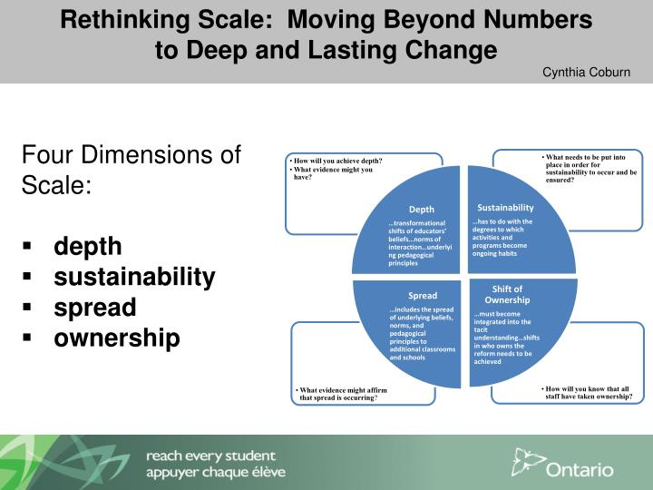 Rethinking Scale:  Moving Beyond Numbers