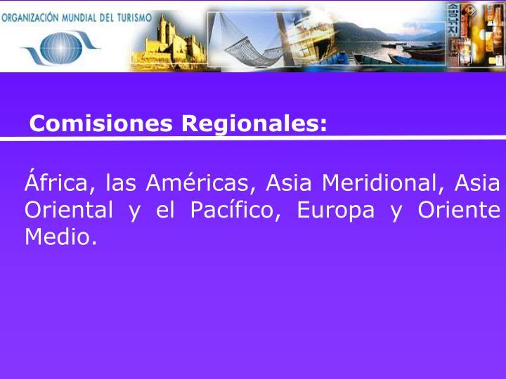 Comisiones Regionales: