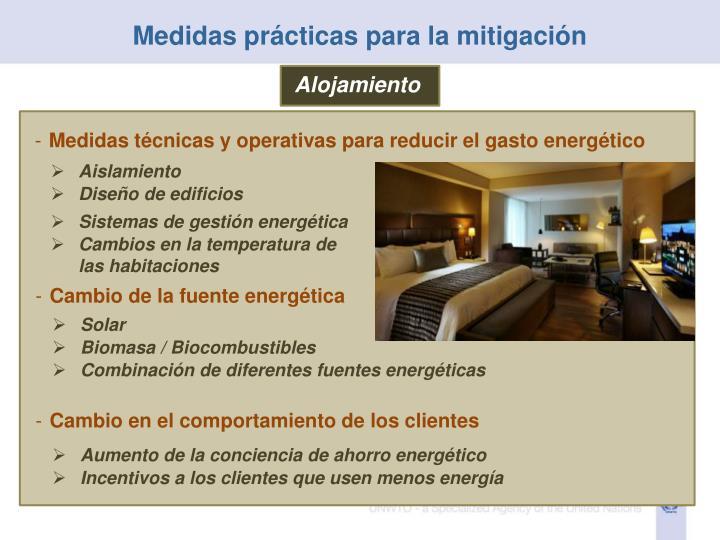 Medidas prácticas para la mitigación