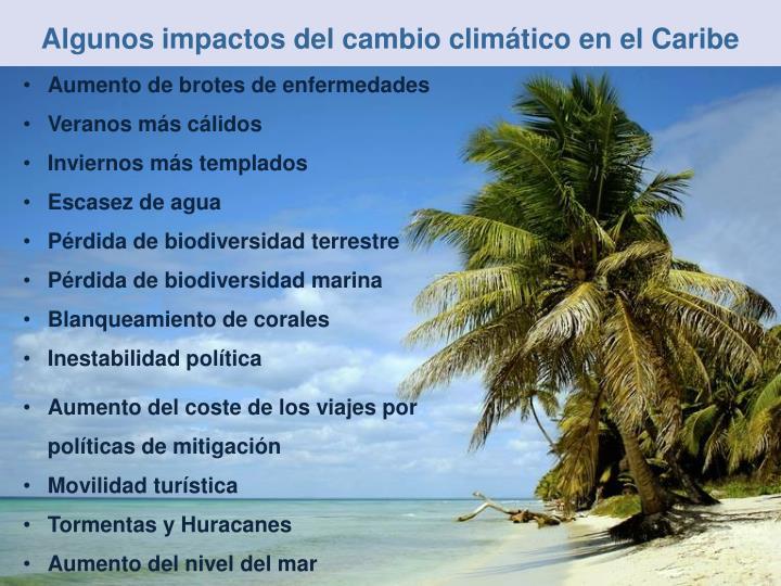 Algunos impactos del cambio climático en el Caribe