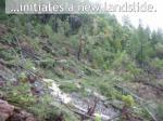 initiates a new landslide