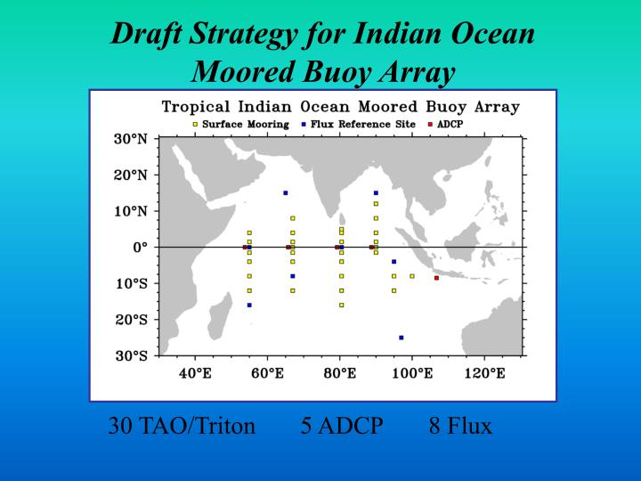 Draft Strategy for Indian Ocean Moored Buoy Array