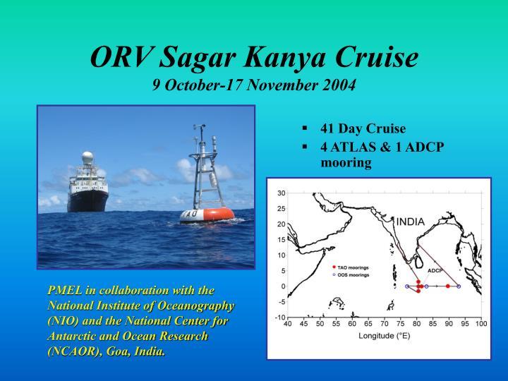 ORV Sagar Kanya Cruise