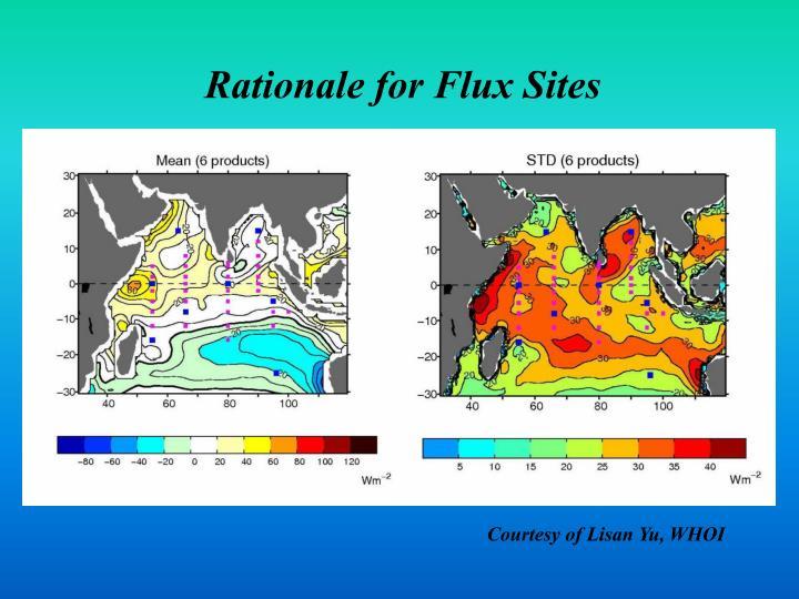 Rationale for Flux Sites