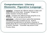 comprehension literary elements figurative language