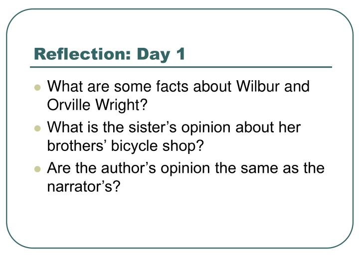 Reflection: Day 1