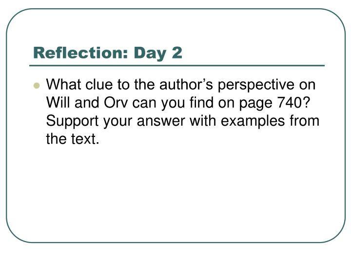 Reflection: Day 2